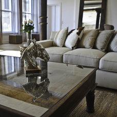 Industrial Living Room by Marie Burgos Design