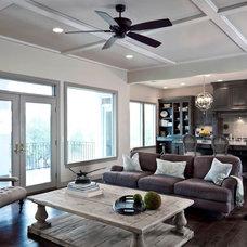 Traditional Living Room by Laura Burton Interiors