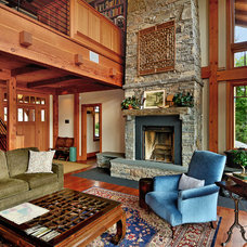 Rustic Living Room by Evolve Design Group