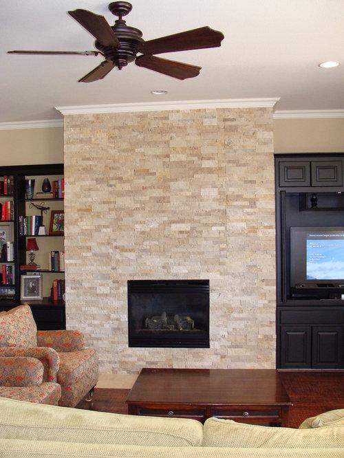 Tiles Design For Living Room Wall: Split Face Travertine Home Design Ideas, Pictures, Remodel