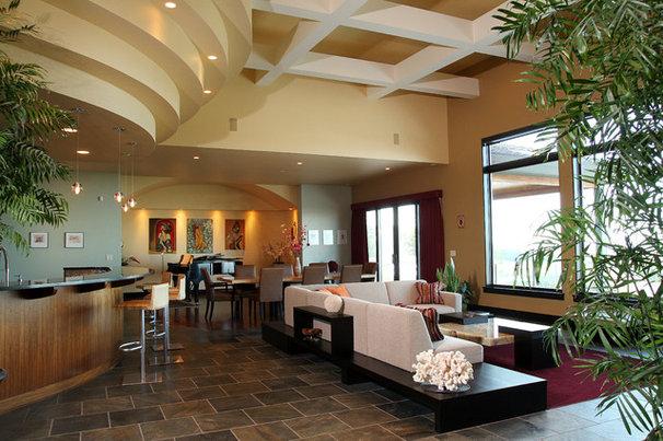 Contemporary Living Room by cossette interior design, llc