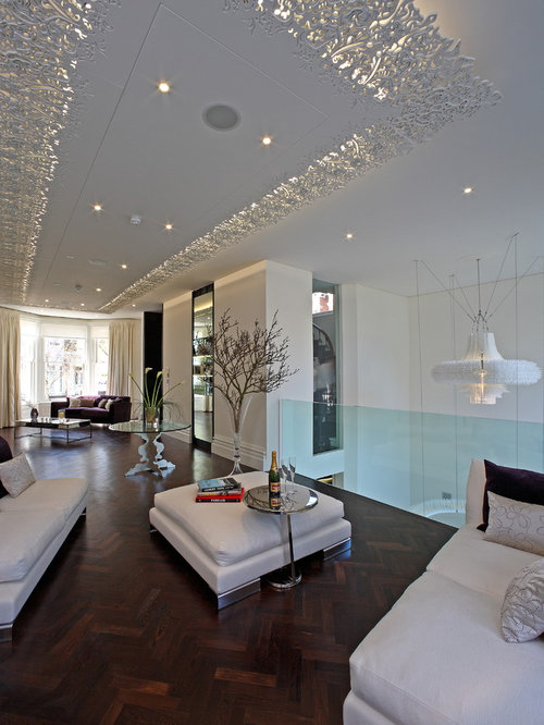 Contemporary Living Room Idea In London With White Walls