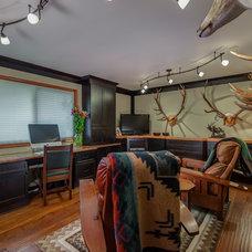Rustic Living Room by W2Design, LLC