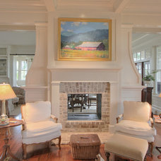 Traditional Living Room by Litchfield Cabinetry and Trim, LLC