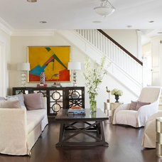 Beach Style Living Room by threshold interiors