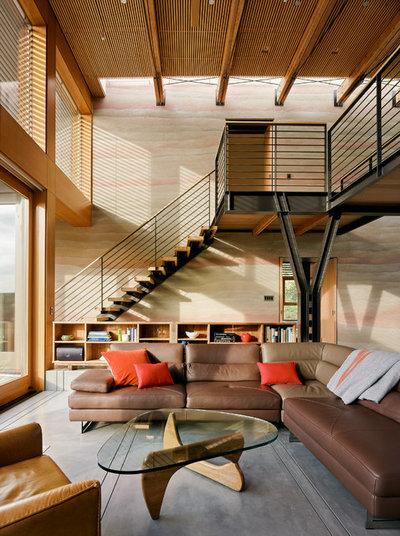 コンテンポラリー リビング by Feldman Architecture, Inc.