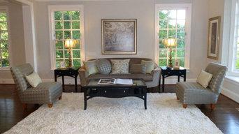 Spring Vale McLean, VA- Staged Living Room