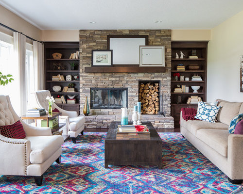 traditional calgary living room design ideas remodels photos