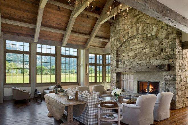 Farmhouse Living Room by Locati Architects