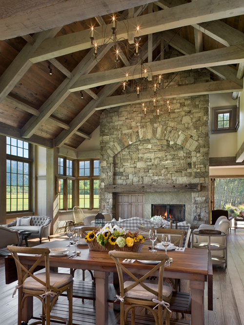 Tall Stone Fireplace Home Design Ideas Pictures Remodel And Decor