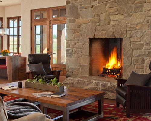 Southwestern Loft-Style Living Room Design Ideas, Remodels ...