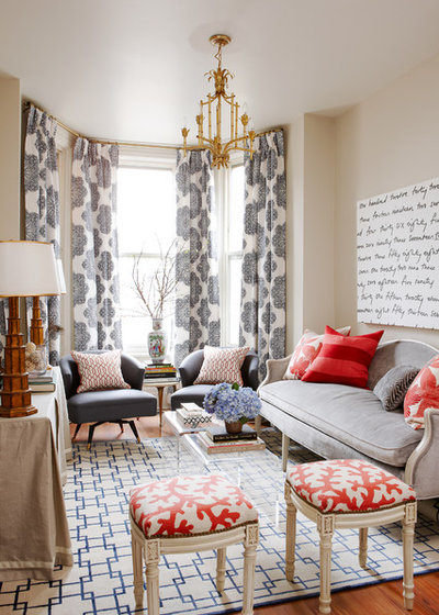 Transitional Living Room by Meredith Heron Design