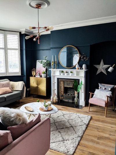 Eclectic Living Room by #TheLondonHomeDesignAwards
