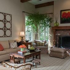 Traditional Living Room by Anna Lattimore Interior Design