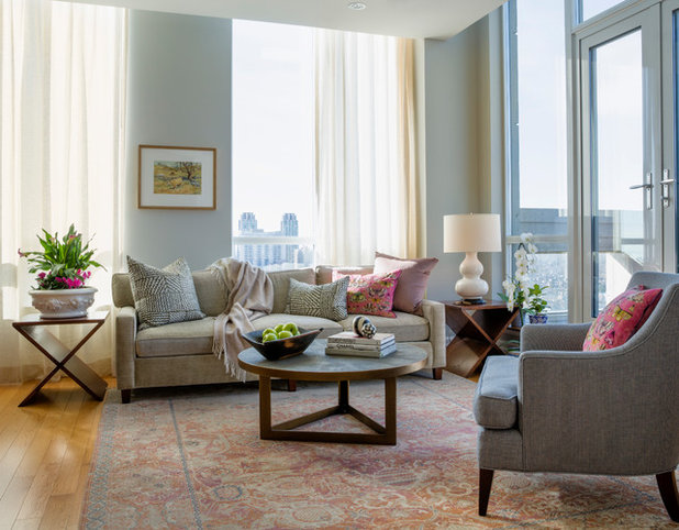 Traditional Living Room by Emily Griffin Design