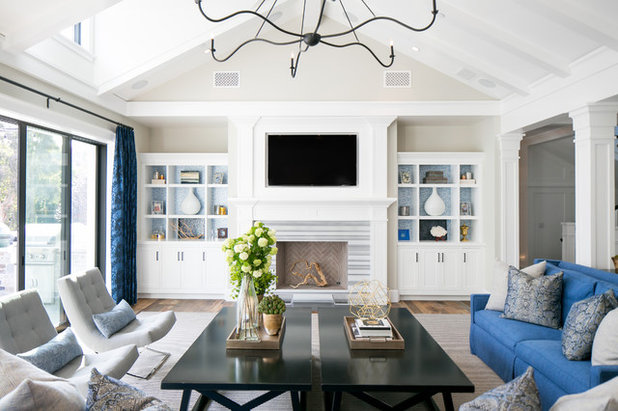 Beach Style Living Room by Brooke Wagner Design