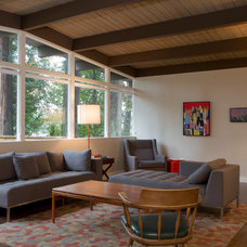 Midcentury Living Room by Kendall Ansell Interiors