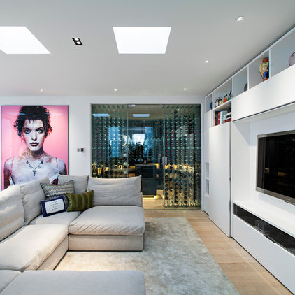 Contemporary Living Room by Maxwell & Company Architects
