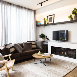 75 Beautiful Contemporary Living Room With A Tv Stand Pictures Ideas April 2021 Houzz
