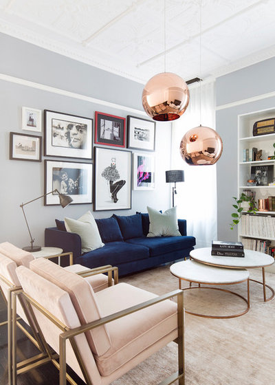 Transitional Living Room by The Designory