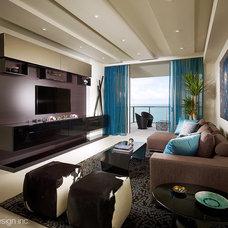 Contemporary Living Room by Jonathon B. Myers, Inc.