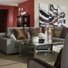 Contemporary Living Room by Kendall Wilkinson Design