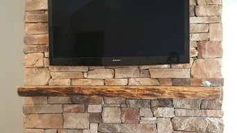 Stack Stone Fireplace TV Installation