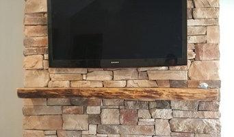 Stack Stone Fireplace TV Installation