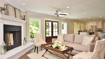 Staged Contemporary Living Room