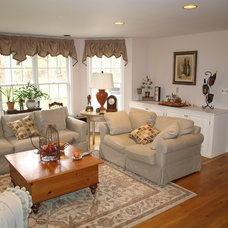 Traditional Living Room by Staged to Perfection