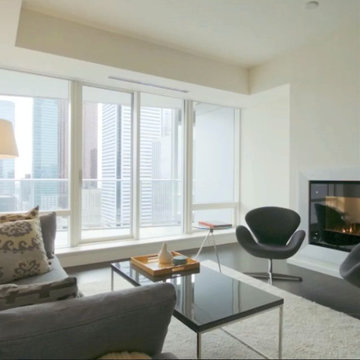 Staged to Sell : Open-Plan Contemporary Luxury Condominium