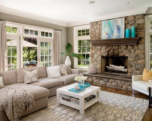Rectangular Living Room | Houzz