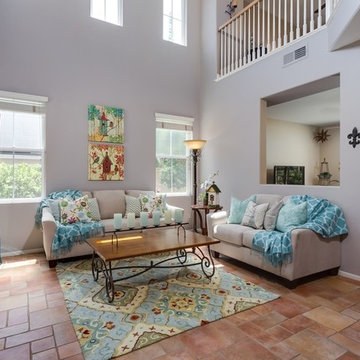 Staging to enlarge small square footage