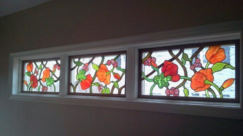 Stained Glass Floral in Dining Room