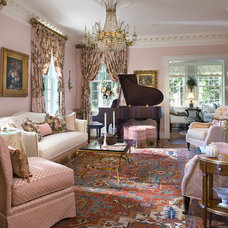 Traditional Living Room by Diane Burgoyne Interiors
