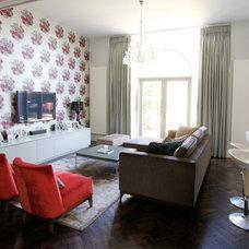 Contemporary Living Room by Fleur Ward Interior Design