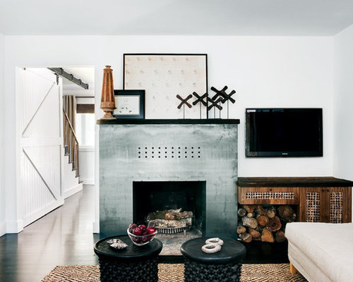 Stainless Steel Fireplace Surround   Houzz