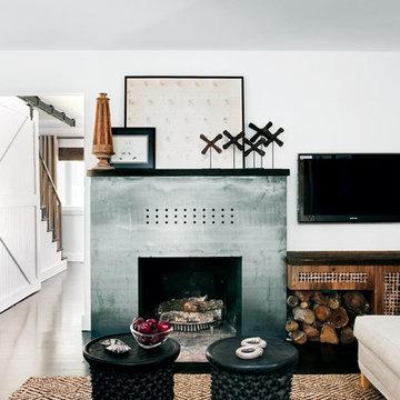 Steel Modern Fireplace