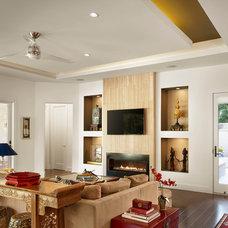 Modern Living Room by Spaces Designed, Interior Design Studio, LLC