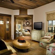 Rustic Living Room by Gerald D. Cowart, AIA, LEED  AP