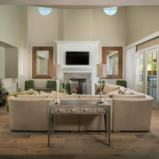 Transitional Living Room by Luster Custom Homes