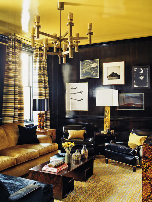 SaveEmail - Black And Gold Living Room Design Ideas, Remodels & Photos Houzz