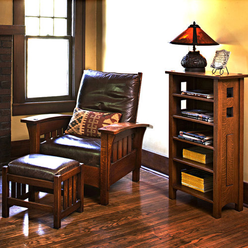 Inspiration for a mid-sized living room remodel in Louisville & Stickley Recliner | Houzz islam-shia.org
