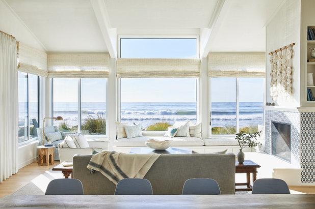 Beach Style Living Room by Lauren Nelson Design