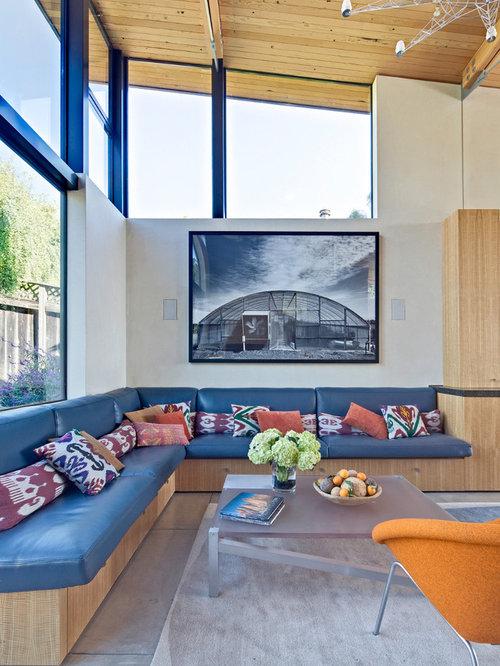 Custom built wrap around bench seating w home design ideas ...