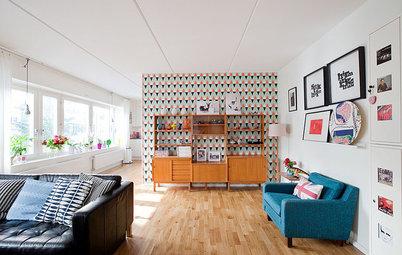 Schöne Tapeten fürs Wohnzimmer – von scandi bis eklektisch