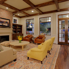 traditional living room by Stone Acorn Builders