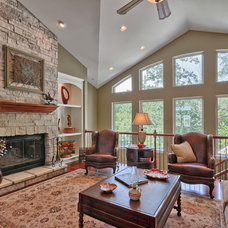 Traditional Family Room by Premier Homes by Jones