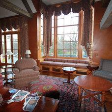 Farmhouse Living Room by John Gehri Zerrer