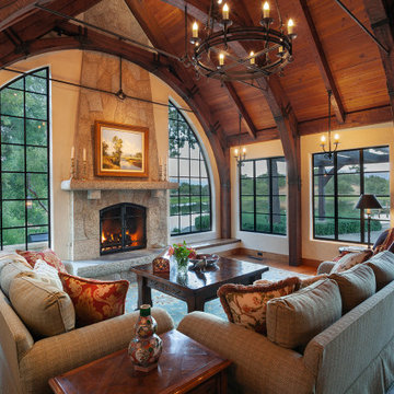 Stone Fireplace in Cottage Farmhouse
